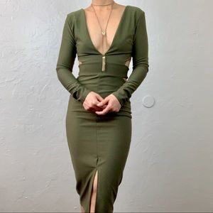 NWT Missguided Olive Party dress fits like XS/Sma
